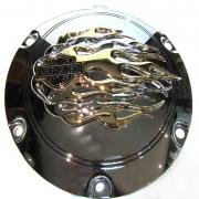 Clutch Cover Flames, 25125-04A, fits a Harley Davidson Sportster® 2004 - later