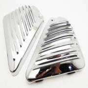 Cover Finned Chrome, ROD, fits a Harley Davidson Rod