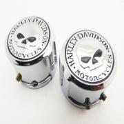 Skull Axle Covers, SKULL, fits a Harley Davidson Softail 07 up