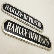 A Fuel Tank Decal Set, 18 CM LONG, fits a Harley Davidson Multifit
